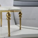 Современные номера обставлены мебелью из нержавеющей стали золота обеденный стул