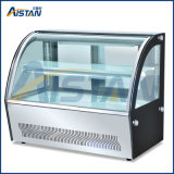 Cp400 4 측 유리제 전시 냉각기 전시 진열장