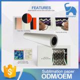 Rouleau de papier de sublimation à séchage rapide 70g pour les textiles