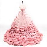 Kristallwolken-Brautballkleid-Tulle-geschwollenes Hochzeits-Kleid Dz510