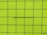 Polyester-Twill-leitendes Plaid-Oxford-Gewebe 100%