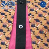 Les à manches courtes colorées Tournent-Vers le bas le chemisier de mode de combinaison de bouton de collier