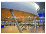 Деревянный Grooved потолок акустической панели