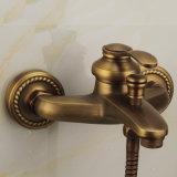 Flg Ensemble de douche de bain avec robinet Finition antique Froid et chaud