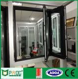 Australia marco estándar de doble acristalamiento de aluminio Bi Fold Ventana Pnoc110405ls