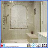 浴室ガラスは、緩和されたガラス、ガラスガラスシャワーのドアを曲げる