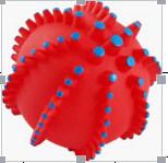 Bola del vinilo 6sides Acanthosphere, juguetes del animal doméstico