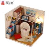 Het nieuwe Huis van Doll van het Stuk speelgoed van het Stuk speelgoed DIY van het Raadsel van de Aankomst 2017 Houten