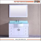 Vanità superiore T9229-48W della stanza da bagno del bacino di vanità di vetro Tempered singola