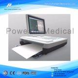 6 채널 ECG 기계, 12 지도 6channel ECG 모니터, 7 인치 LCD 스크린을%s 가진 ECG 기계
