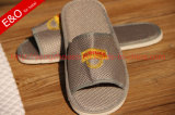 Bordado Logo Mesh Boa Permeabilidade Slipper para Hotel