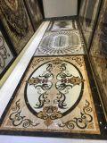 金磨かれた芸術家の陶磁器の水晶カーペット愛情のある部屋の床および壁