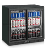 com Ce, CB, anúncio publicitário de vidro dobro do refrigerador da barra da porta de RoHS sob o refrigerador da barra