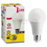 Bulbo de alumínio e plástico do diodo emissor de luz da carcaça A60 12W SKD com três porções