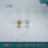 45ml贅沢な長方形のゆとりのピペットが付いているガラス銀製の出版物ポンプ点滴器のびん
