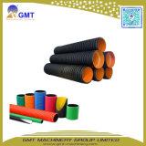 플라스틱 HDPE/PVC 두 배 벽 물결 모양 관 밀어남 생산 라인