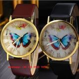 Relógio bonito do movimento de quartzo com a cinta de couro para as mulheres Fs496