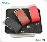 Lecteur flash USB en cuir de qualité avec le coût bas (WY-L18)