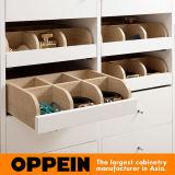 Oppein moderno de la melamina blanca armarios con bisagras (YP0501642)