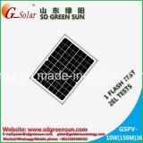12Vシステムのための10Wモノラル太陽電池パネル
