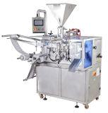 Máquina de dosificación semiautomática del relleno y de etiquetado de la empaquetadora
