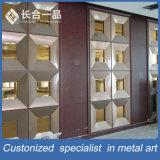 Рассекатель комнаты панели стены экрана нового металла типа декоративного складывая