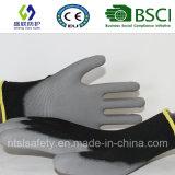ギャリーPUのコーティングの安全手袋(が付いている13G黒いポリエステルSL-PU206 (13G))