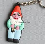 선전용 선물 고무 열쇠 고리 관례 PVC Keychain 플라스틱 실리콘 Keychain
