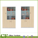 gabinete de madeira de Filie da mobília do gabinete 3-Doors com porta de vidro