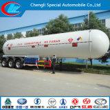 Seguridad de la parte superior del depósito de gas gas caliente de Venta remolque remolque semi remolque de gas de alta calidad