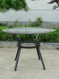 Fünf Stücke des Rattan-Falz-Stuhls + 1PCS Covines des runden Tisches