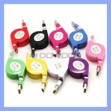 Einziehbarer Micro USB Charger Flat Noodle Cable für Samsung HTC Android Phones