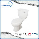 Siphonic Two Piece Single Flush 1.28gpf Toilette allongée (ACT9008B)