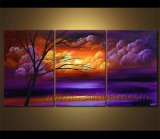 Frame (LA3-150)에 최신 Sale Framed Modern Landscape Oil Painting