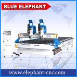2055 Multi-Heads Woodwork CNC Router, CNC Wood Carve Machine para Design de porta de madeira