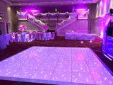 Door sterren verlicht LEIDEN Dance Floor voor LEIDEN van de Partij 12*12FT van het Huwelijk van het Stadium Lichte Door sterren verlicht Dance Floor