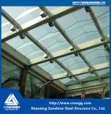 O tubo de aço do telhado de vidro com estrutura de serrilha