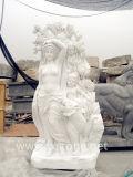 Statue de pierre statue en marbre antique (FX02)