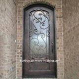 Hand-Crafted Sicherheits-bearbeitetes Eisen-einzelne Tür mit Eis-Glas