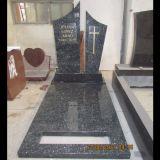 De Europese Grafsteen van het Graniet van de Parel van Polsihed van de Stijl Blauwe