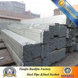 Quadrat oder rechteckige/quadratische Rohr-Fluss-Stahl-Rohre
