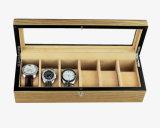 Contenitore di regalo di memoria della visualizzazione della vigilanza di rivestimento del Brown Matt del palissandro/caso di legno