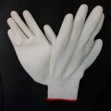 Перчатки PU перчатки работы черной безопасности покрытия PU ладони Nylon