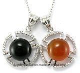 Buon Quality e la Cina Manufacture New Product Green Zirconia Silver Jewelry Pendant P4992
