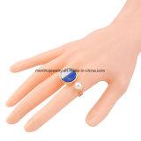 Neuer eleganter Perlen-und Stein-Legierungs-geöffneter Ring für Mädchen