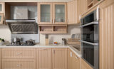 Bianco moderno e mobilia della cucina di rivestimento del PVC (zc-049)