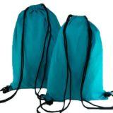 種類のカラーのドローストリングの綿のバックパック袋