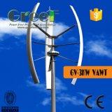 Малый вертикальный генератор ветротурбины оси для домашней пользы