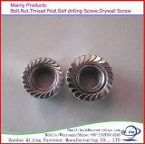 Noix Hex de la bride DIN6923 galvanisée en acier du carbone