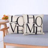 Het digitale Decoratieve Kussen/het Hoofdkussen van Af:drukken met de Afgedrukte Woorden van het Huis/van de Liefde (mx-85)